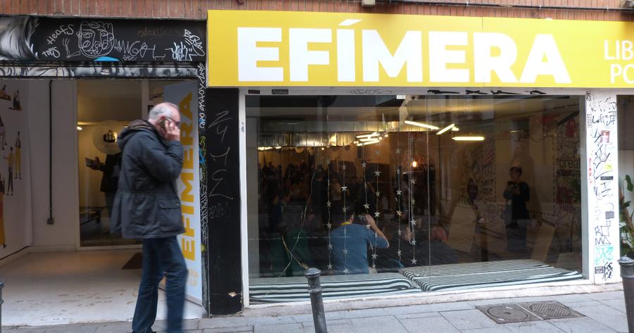 Efímera, una librería pop-up que vendió 80 libros por hora