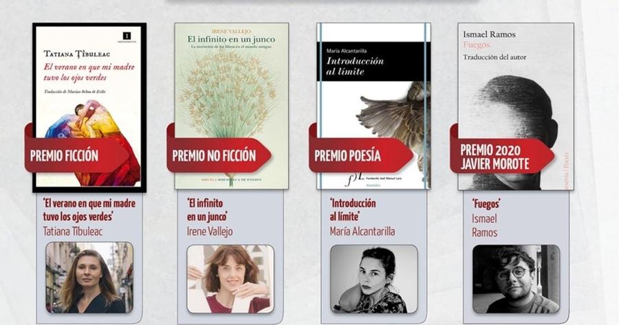 Tatiana Tibuleac, Irene Vallejo y María Alcantarilla ganadoras de los premios Las Librerías Recomiendan 2020