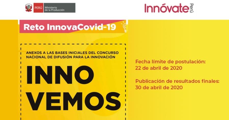 InnoVemos – Reto InnovaCovid-19: Concurso Nacional de Difusión para la Innovación