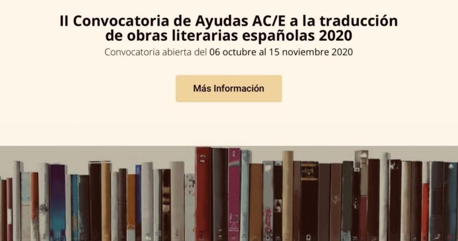 Este 6 de octubre inicia la segunda convocatoria del programa de ayudas para la traducción de obras literarias españolas
