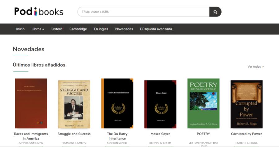 Llega Podibooks, la tienda online con tres millones de libros para el librero independiente