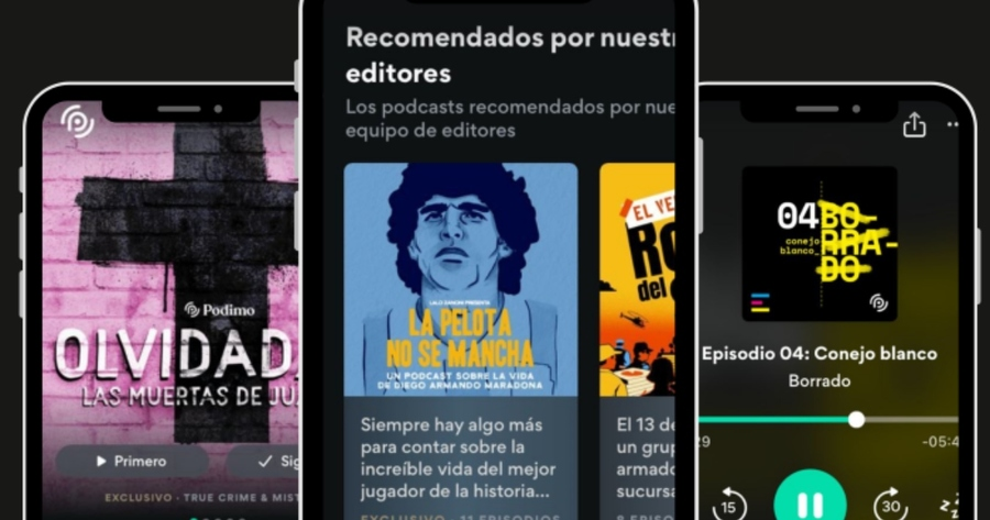 Podimo lanza una nueva versión latina de su app