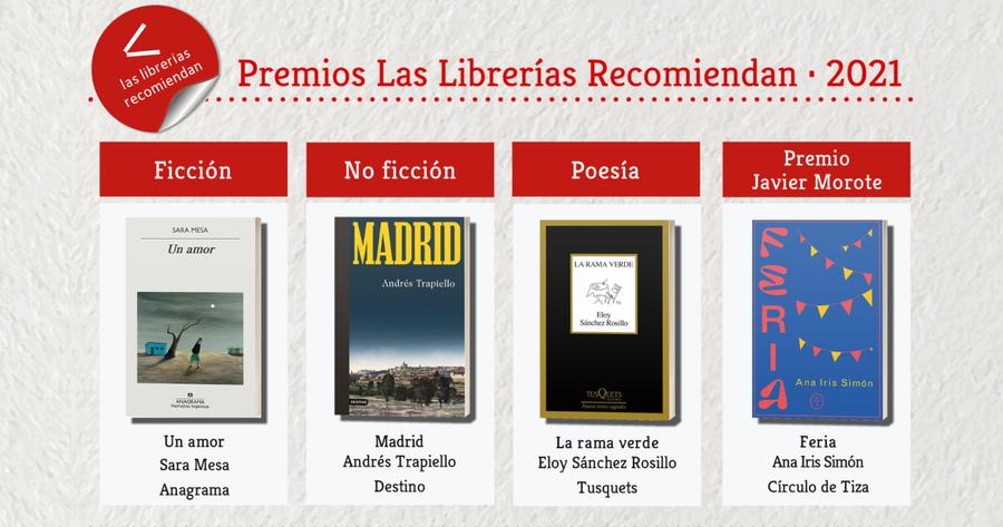 Sara Mesa, Andrés Trapiello y Eloy Sánchez Rosillo son los ganadores de los premios «Las Librerías Recomiendan»