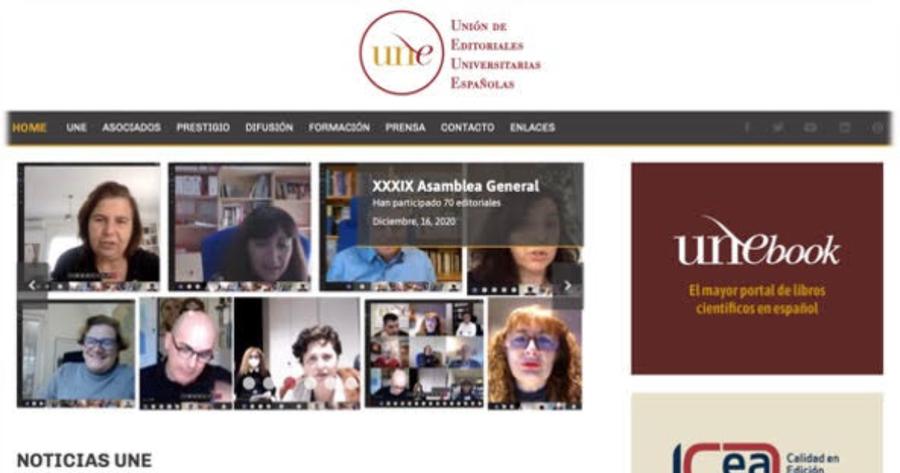 La Unión de Editoriales Universitarias Españolas estrena página web