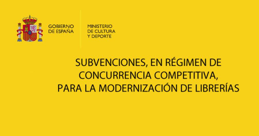 Disponible el plazo de las ayudas para la revalorización cultural y modernización de librerías 2021