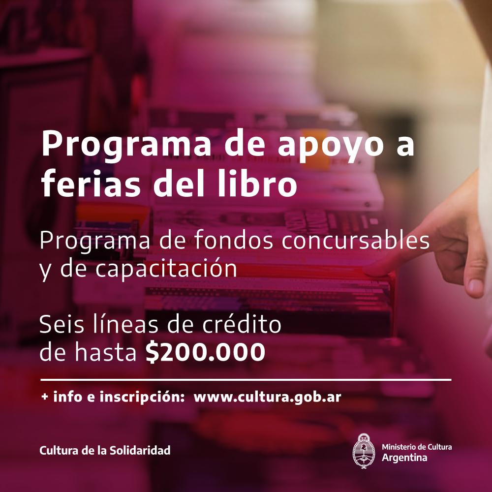Programa de apoyo a las Ferias del Libro Argentina