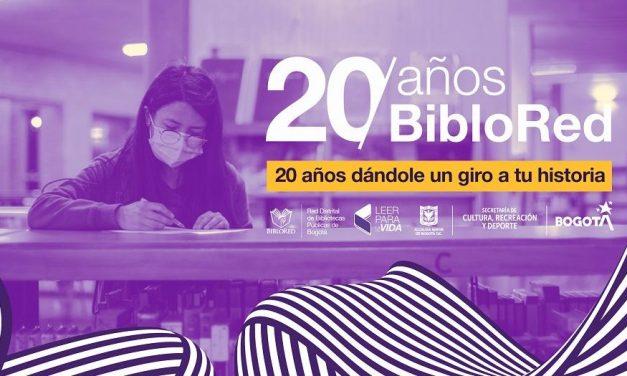 BibloRed festejará sus 20 años con programación en la FILBo Digital 2021