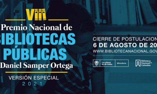 Abierta la convocatoria para la segunda versión especial del Premio Nacional de Bibliotecas Públicas de Colombia
