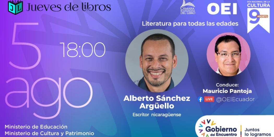 Literatura para todas las edades en el mes de la cultura en Ecuador