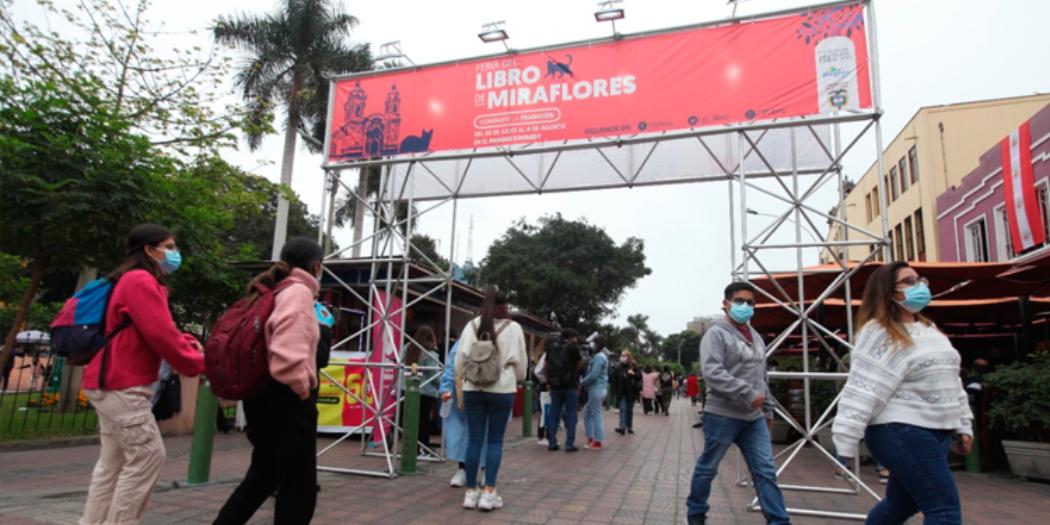 La Feria del Libro de Miraflores 2021 acogió a más de 15.000 visitantes