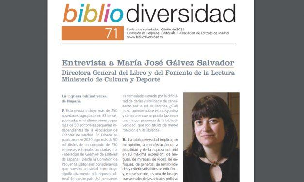 Ya está disponible la edición de otoño de la revista «Bibliodiversidad»