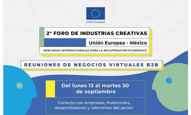 Reuniones de Negocios Virtuales B2B: 2º foro de Industrias Creativas