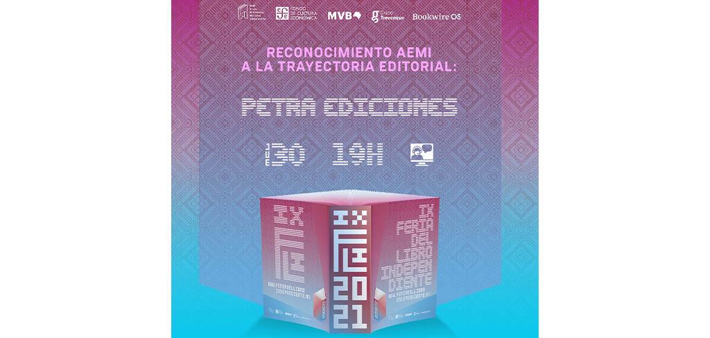 Petra Ediciones obtiene el reconocimiento a la Trayectoria Editorial