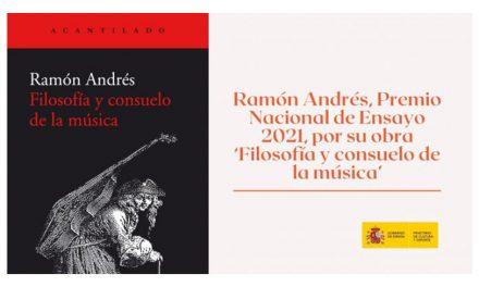 Ramón Andrés, Premio Nacional de Ensayo 2021